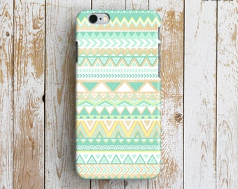 TRIBAL PATTERN iPhone 6 Case. Geometric Pattern iPhone 6 Case. Mint iPhone Case. Pastel Color iPhone 6 Plus Case. Tribal iPhone Case. Gift.