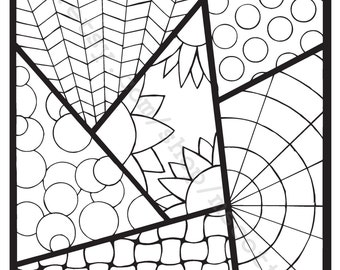 Coloring Page (Strips 2)