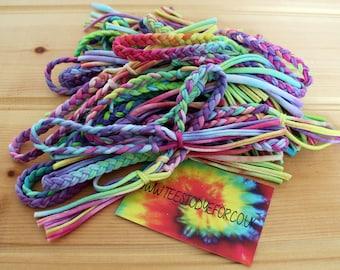Pastel Tie Dye Friendship Bracelets