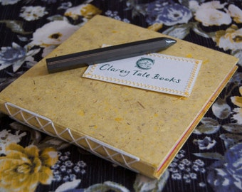 Yellow Rainbow Page Square Hardback Notebook 15cm