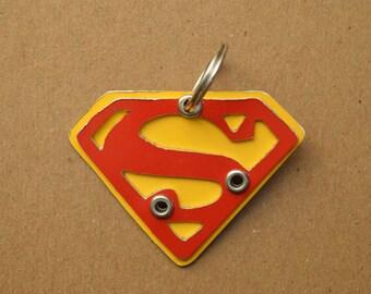 Superman Pet Tag Dog ID Metal Animal Hero Comic Superhero