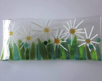 Daisy, Daisy, give me your answer do...fused glass art spoon rest