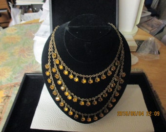 vintage multi strand necklace 1940's