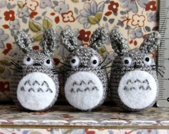 hand crochet miniature Totoro  mini amigurumi