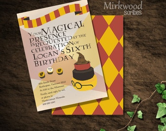 Harry Potter Birthday Invitation  |  DIY Printable  | Customized Digital File