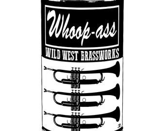 Whoop Can Trumpet T-shirt - Jeff Curnow Original