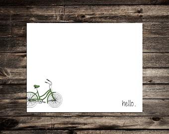 Vintage Women's Bicycle Note Card
