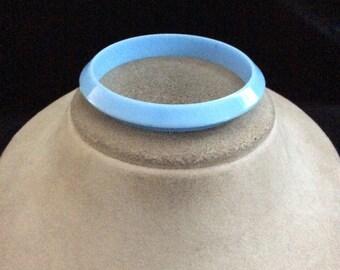 Vintage Baby Blue Plastic Bangle Bracelet
