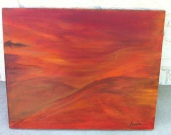 Original Abstract Acrylic Painting/India