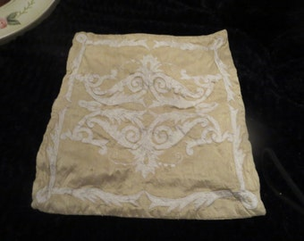 this is old vintage decorative pillow case