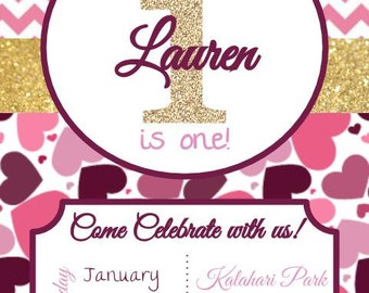 Oh What Fun - First Birthday Invitation