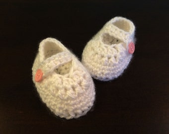 Mary Jane Crochet Baby Shoes