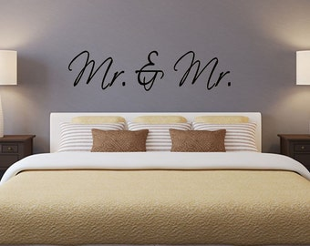 Mr. and Mr. 2 vinyl wall decal