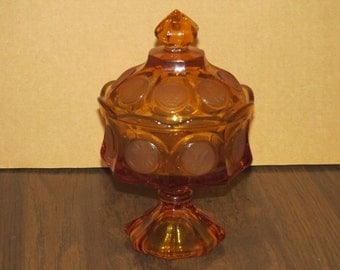 Fostoria Amber Wedding Bowl with Lid