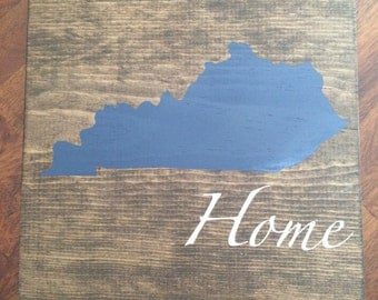 Kentucky Wood Sign, Rustic, Home Decor, UK, Handmade, State Sign