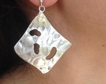 Earring, Brass Earring, Handmade  Earring, Silver plate Earring, Gifts For Her, Cristmas, Birthday
