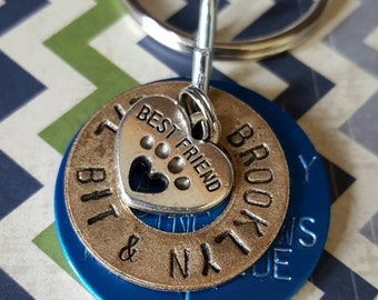 Best Friend Pet Tag Key Chain or Necklace