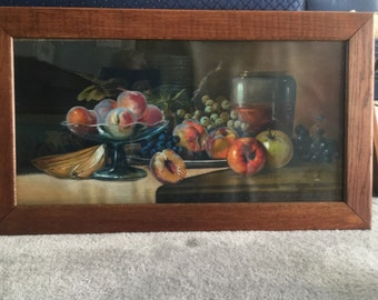 Fruit Still Life, framed