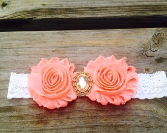 Coral Flower w/ Lace