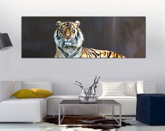 """Tiger canvas Wildlife Photography shot Printed on a Canvas. Stretched print on 1.5"""" deep frames. Great for home, office decor & interior"""