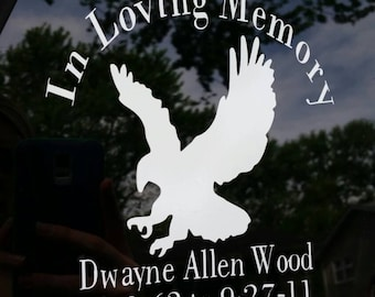 In Memory Custom made Vinyl Decals