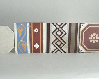Antique Charnoz Paray Le Monia Floor Tiles