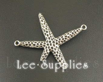 10pcs Antique Silver Alloy starfish Charms Pendant A1246