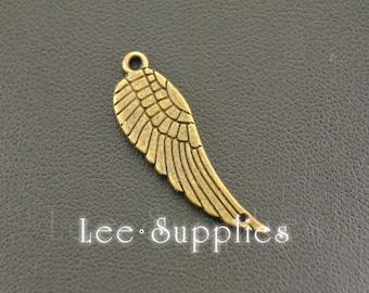 10pcs Antique Bronze Alloy Angel Wings Charms Pendant A636