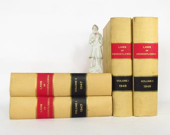 4 Law books selected for their LOOKS or they can be 4 heavy BOOKENDS