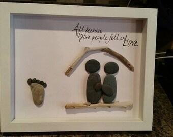 New Baby Pebble Art
