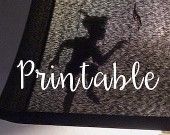 Peter Pan's Shadow Cutout