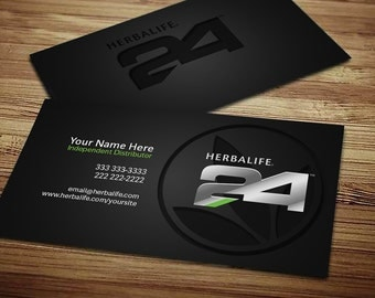 Herbalife Business Card - Digital Download | Clean | Smooth | Modern | Fresh | Independent Distributor | Design | Green | Dark