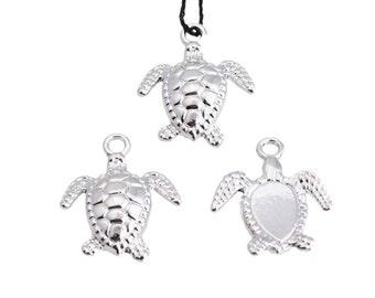 Charm Sea Turtle metal