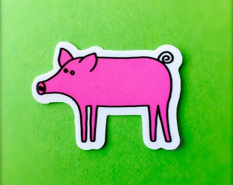 Pig Sticker - Cute Animal Stickers, Vegan/Kid's Stickers, For Laptops and Notebooks