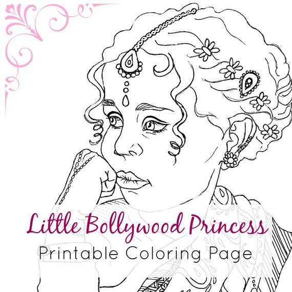 It's just a photo of Influential indian girl coloring page