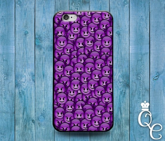 iPhone 4 4s 5 5s 5c SE 6 6s 7 plus iPod Touch 4th 5th 6th Generation Phone Case Funny Cool Purple Devil Smiley Face Cute Cover Custom Fun