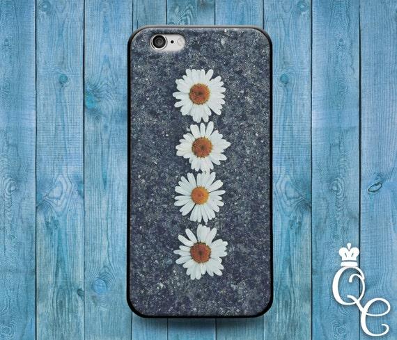 iPhone 4 4s 5 5s 5c SE 6 6s 7 plus iPod Touch 4th 5th 6th Gen Beautiful Daisy Asphault Flower Cover Cool Cute Phone Case Girly Girl Fun