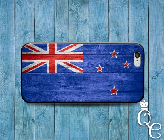 iPhone 4 4s 5 5s 5c SE 6 6s 7 plus iPod Touch 4th 5th 6th Gen Cool Custom New Zealand National Country Flag Case Cute Wood Fun Phone Cover