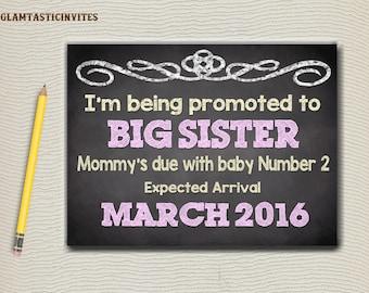 pregnancy announcement, chalkboard pregnancy announcement, big sister sign, big sister announcement, big sister chalkboard, big sister board