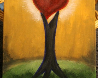 18X14- Anchored Heart Painting
