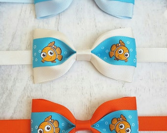 Nemo bow tie/disney bow tie/nemo birthday/nemo baby shower/nemo costume/nemo birthday outfit/nemo party decorations/boys bow tie