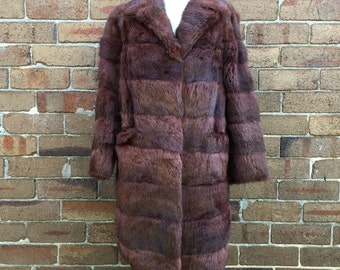 Real Rabbit Fur Vintage Long Coat in pristine condition!