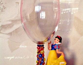 Disney Snow White Wine Glass