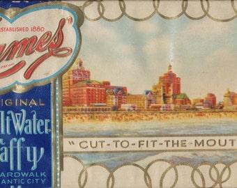 James Salt Water Taffy from Atlantic City Boardwalk 1936 Candy Box