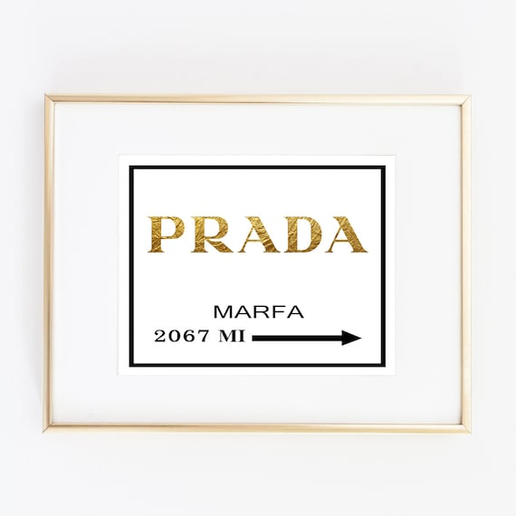 gold foil leaf print prada marfa distance like by artlantida. Black Bedroom Furniture Sets. Home Design Ideas