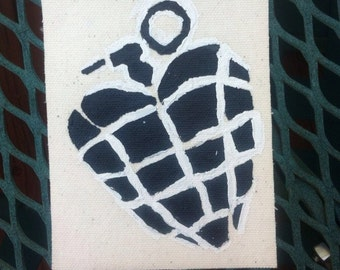 Green Day heart grenade American Idiot punk patch