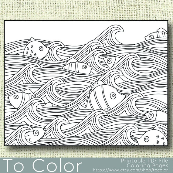 wave printable coloring pages - photo#21