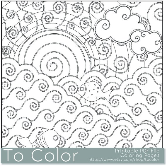 Items Similar To Vacation Coloring Page