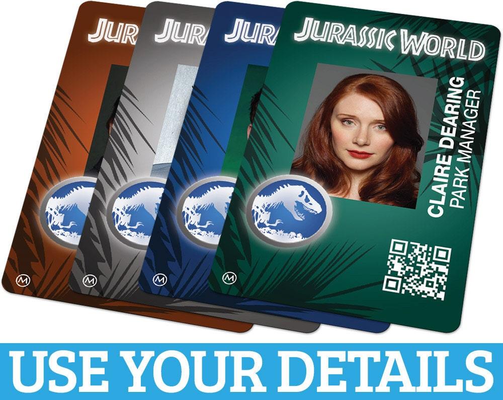 Custom ID Card Badge: Jurassic World Cosplay Costume Prop