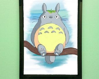 My Neighbour Totoro illustration art print